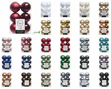 Decoris 12 Weihnachtskugeln Kunststoff 6cm Weiß Irisierend // Bruchsichere Kugeln, Weiß irisierend, Pack of 12 x 60mm - 2