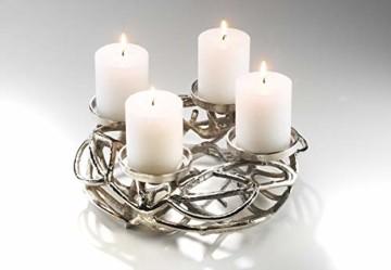 Deko-Kranz Adventskranz aus Metall für 4 Kerzen - 4