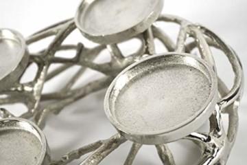 Deko-Kranz Adventskranz aus Metall für 4 Kerzen - 6