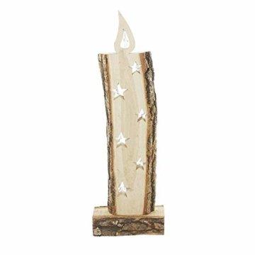 """Deko Objekt """"Leuchtkerze"""" aus Holz, 52 cm hoch, mit LED Lichterkette, Batterie-betrieben, Skulptur … - 2"""