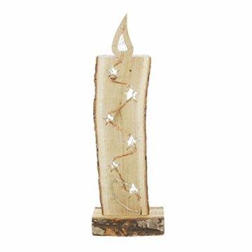 """Deko Objekt """"Leuchtkerze"""" aus Holz, 52 cm hoch, mit LED Lichterkette, Batterie-betrieben, Skulptur … - 3"""