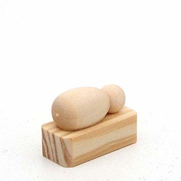 Dekohelden24 Handgedrechselte Holz Krippenfiguren als 4er Set, Maße L/B/H: 2 x 2 x 5,5 cm. - 5
