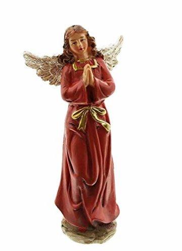 Dekoleidenschaft 11 TLG. Figuren-Set für die Weihnachtskrippe ca. 15 cm hoch, mit Jesuskind, Maria, Josef, die heiligen 3 Könige, Hirte mit Lamm, Engel, Schaf, Esel und Rind - 3