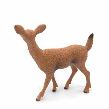 Dengeng Set von 6 Weihnachts-Reh Figuren für Weihnachtsdekoration, Hirsch-Spielzeug - 2