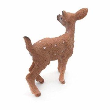 Dengeng Set von 6 Weihnachts-Reh Figuren für Weihnachtsdekoration, Hirsch-Spielzeug - 4