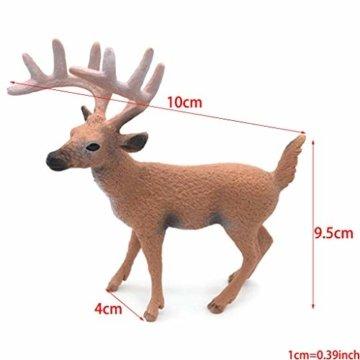 Dengeng Set von 6 Weihnachts-Reh Figuren für Weihnachtsdekoration, Hirsch-Spielzeug - 6