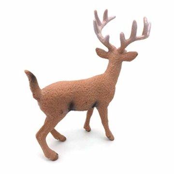 Dengeng Set von 6 Weihnachts-Reh Figuren für Weihnachtsdekoration, Hirsch-Spielzeug - 7