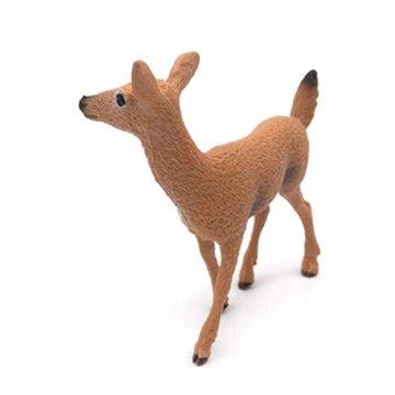 Dengeng Set von 6 Weihnachts-Reh Figuren für Weihnachtsdekoration, Hirsch-Spielzeug - 9