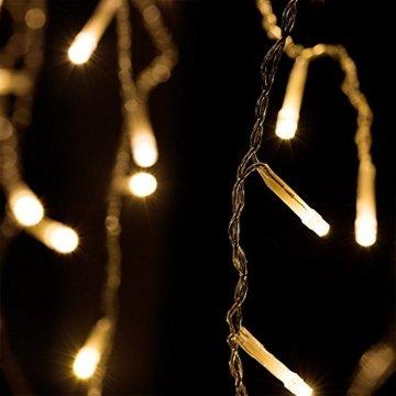 Deuba Regenlichterkette 600 LED I warm-weiß I inkl Fernbedienung I 8 Leuchtmodi I Timer I Dimmbar I In- & Outdoor Regenkette Lichterkette - 5