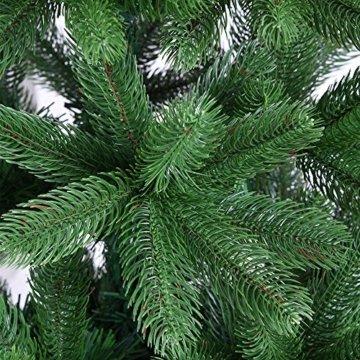 Deuba Weihnachtsbaum 140 cm Ständer Spritzguss künstlicher Tannenbaum Christbaum Baum Tanne Edeltanne Christbaumständer PE - 2