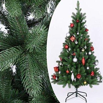 Deuba Weihnachtsbaum 140 cm Ständer Spritzguss künstlicher Tannenbaum Christbaum Baum Tanne Edeltanne Christbaumständer PE - 3