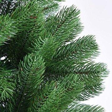 Deuba Weihnachtsbaum 140 cm Ständer Spritzguss künstlicher Tannenbaum Christbaum Baum Tanne Edeltanne Christbaumständer PE - 4