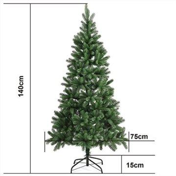 Deuba Weihnachtsbaum 140 cm Ständer Spritzguss künstlicher Tannenbaum Christbaum Baum Tanne Edeltanne Christbaumständer PE - 8