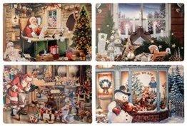 Diverse 4 unterschiedliche Weihnachten Platzdeckchen Platzset Platzmatte Tischset Nostalgie Retro 4 er - 1
