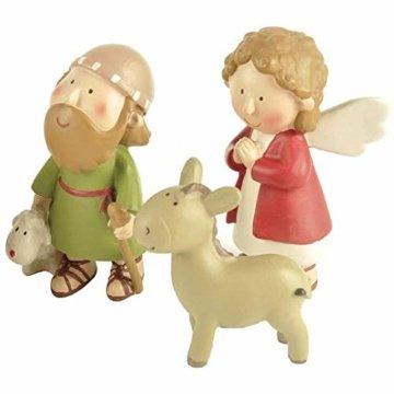 DXQDXQ Statue Mini Weihnachtskrippe Krippenfiguren 9 Figuren Holz Tischdeko Weihnachtsdeko Krippe Figuren Wasserdicht - 3