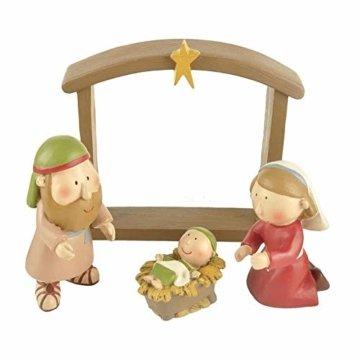 DXQDXQ Statue Mini Weihnachtskrippe Krippenfiguren 9 Figuren Holz Tischdeko Weihnachtsdeko Krippe Figuren Wasserdicht - 4