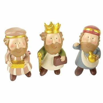 DXQDXQ Statue Mini Weihnachtskrippe Krippenfiguren 9 Figuren Holz Tischdeko Weihnachtsdeko Krippe Figuren Wasserdicht - 7