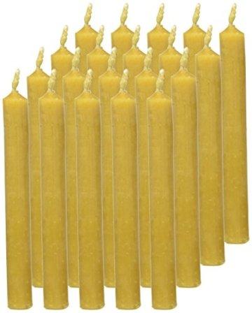 Eika 10266810 Baumkerzen 100% Bienenwachs, naturgelb, 20er Packung - 3