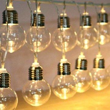 Einfache dekorative Lichterketten in 10LED-Birnenform für die Raumaufteilung im Innen- und Außenbereich,entworfen für Wohnzimmer, Schlafzimmer, Küche - 2