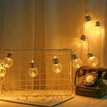Einfache dekorative Lichterketten in 10LED-Birnenform für die Raumaufteilung im Innen- und Außenbereich,entworfen für Wohnzimmer, Schlafzimmer, Küche - 1