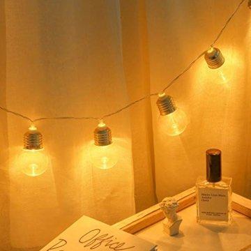 Einfache dekorative Lichterketten in 10LED-Birnenform für die Raumaufteilung im Innen- und Außenbereich,entworfen für Wohnzimmer, Schlafzimmer, Küche - 5