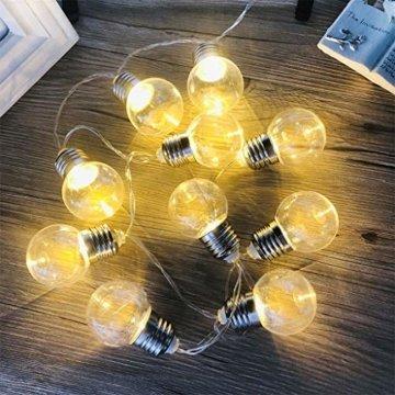 Einfache dekorative Lichterketten in 10LED-Birnenform für die Raumaufteilung im Innen- und Außenbereich,entworfen für Wohnzimmer, Schlafzimmer, Küche - 8