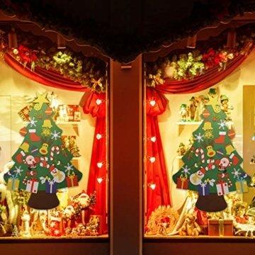 EKKONG Filz Weihnachtsbaum Set Edition 30 Pcs Ornamente Wand Dekor Für Kinder Weihnachten Geschenk Home Tür Wand Dekoration - 4
