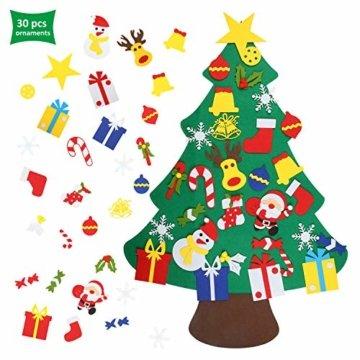 EKKONG Filz Weihnachtsbaum Set Edition 30 Pcs Ornamente Wand Dekor Für Kinder Weihnachten Geschenk Home Tür Wand Dekoration - 1