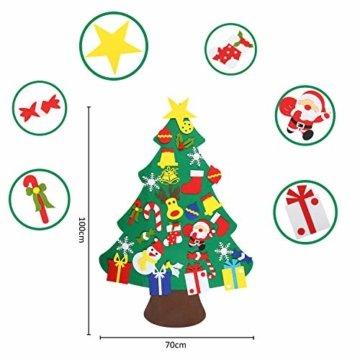 EKKONG Filz Weihnachtsbaum Set Edition 30 Pcs Ornamente Wand Dekor Für Kinder Weihnachten Geschenk Home Tür Wand Dekoration - 6