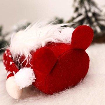 Exuberanter Weihnachtswichtel Deko Schwedische Wichtel Santa Dolls Weihnachtsfigur Wichtel Figuren Weihnachten GNOME Plüsch Gesichtslose Puppe Dekoration Kinder Geburtstagsgeschenke - 3