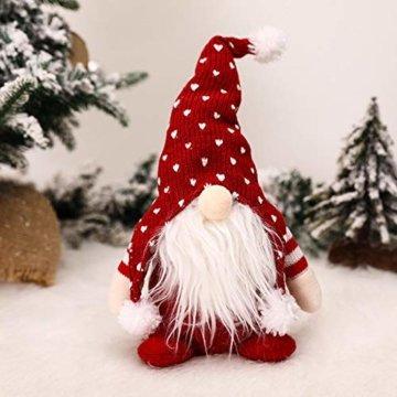 Exuberanter Weihnachtswichtel Deko Schwedische Wichtel Santa Dolls Weihnachtsfigur Wichtel Figuren Weihnachten GNOME Plüsch Gesichtslose Puppe Dekoration Kinder Geburtstagsgeschenke - 4