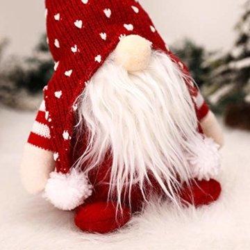 Exuberanter Weihnachtswichtel Deko Schwedische Wichtel Santa Dolls Weihnachtsfigur Wichtel Figuren Weihnachten GNOME Plüsch Gesichtslose Puppe Dekoration Kinder Geburtstagsgeschenke - 5