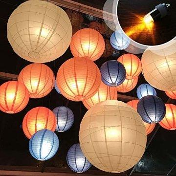 Eyscoco 30 x Mini LED-Ballons Lichter,Led Luftballons Lichter Wasserdicht Beleuchtung Warmweiß Nicht-blinkend,Led Ballonlichter Für Papierlaterne Ballons Blumendekoration,Hochzeit,Weihnachten Party - 4