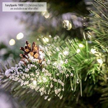FairyTrees künstlicher Weihnachtsbaum im Topf FICHTE NATURSTAMM, Grün, Material PVC, Baumstamm aus echtem Holz, 150cm, FT20-150 - 3
