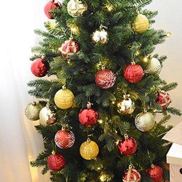 FeiliandaJJ 6CM Eine Schachtel mit 24 Anhänger Christbaumkugeln Dekorationen Kugeln Party Hochzeit Weihnachten Deko Weihnachtskugeln Ornament (Khaki) - 3