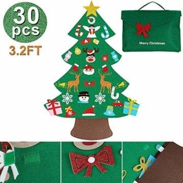 Filz Weihnachtsbaum mit 26 Abnehmbaren hängenden Ornamenten - DIY Dekoration Hängend Dekor für Kinde - 3