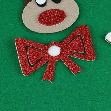 Filz Weihnachtsbaum mit 26 Abnehmbaren hängenden Ornamenten - DIY Dekoration Hängend Dekor für Kinde - 4