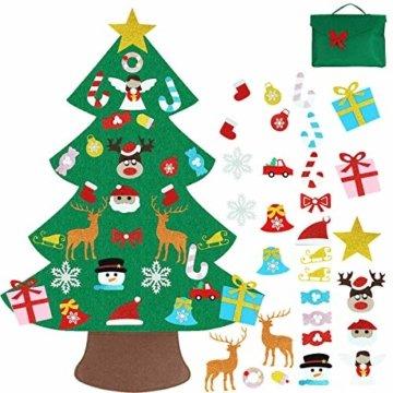 Filz Weihnachtsbaum mit 26 Abnehmbaren hängenden Ornamenten - DIY Dekoration Hängend Dekor für Kinde - 1