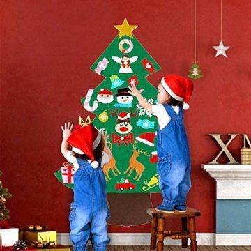 Filz Weihnachtsbaum mit 26 Abnehmbaren hängenden Ornamenten - DIY Dekoration Hängend Dekor für Kinde - 5
