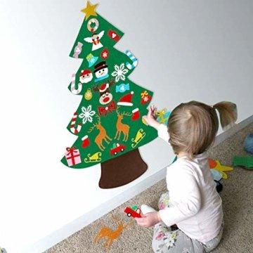 Filz Weihnachtsbaum mit 26 Abnehmbaren hängenden Ornamenten - DIY Dekoration Hängend Dekor für Kinde - 6