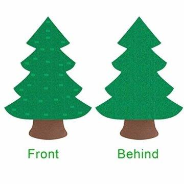 Filz Weihnachtsbaum mit 26 Abnehmbaren hängenden Ornamenten - DIY Dekoration Hängend Dekor für Kinde - 7