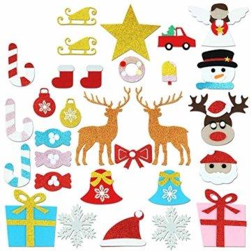 Filz Weihnachtsbaum mit 26 Abnehmbaren hängenden Ornamenten - DIY Dekoration Hängend Dekor für Kinde - 8