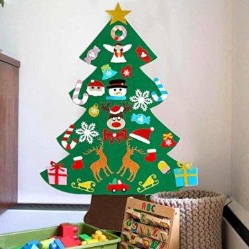 Filz Weihnachtsbaum mit 26 Abnehmbaren hängenden Ornamenten - DIY Dekoration Hängend Dekor für Kinde - 9