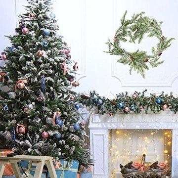 Frgasgds 180cm Weihnachtsgirlande mit Tannenzapfen,Tannengirlande für innen Künstliche Weihnachtsgirlande Weihnachtsgirlande Dekogirlande Girlande natürliche Deko für Weihnachtsdekoration zu Hause - 3