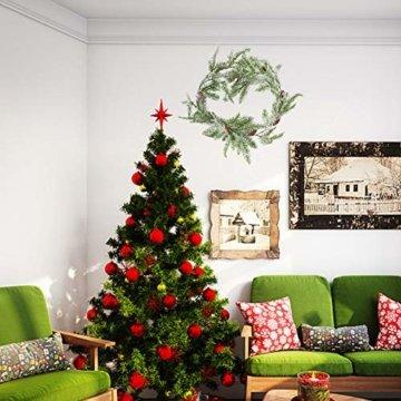 Frgasgds 180cm Weihnachtsgirlande mit Tannenzapfen,Tannengirlande für innen Künstliche Weihnachtsgirlande Weihnachtsgirlande Dekogirlande Girlande natürliche Deko für Weihnachtsdekoration zu Hause - 5