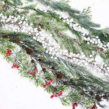 Frgasgds 180cm Weihnachtsgirlande mit Tannenzapfen,Tannengirlande für innen Künstliche Weihnachtsgirlande Weihnachtsgirlande Dekogirlande Girlande natürliche Deko für Weihnachtsdekoration zu Hause - 6