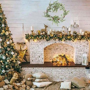 Frgasgds 180cm Weihnachtsgirlande mit Tannenzapfen,Tannengirlande für innen Künstliche Weihnachtsgirlande Weihnachtsgirlande Dekogirlande Girlande natürliche Deko für Weihnachtsdekoration zu Hause - 7