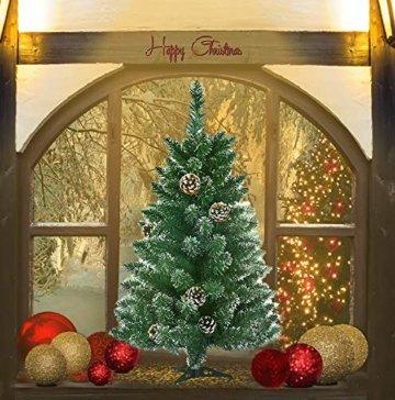 Froadp 90cm Künstlicher PVC Weihnachtsbaum Tannenbaum Kiefernadel Mit Schnee-Effekt(Schnee-Effekt, 90cm) - 3