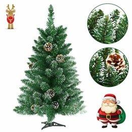 Froadp 90cm Künstlicher PVC Weihnachtsbaum Tannenbaum Kiefernadel Mit Schnee-Effekt(Schnee-Effekt, 90cm) - 1
