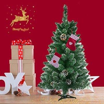 Froadp 90cm Künstlicher PVC Weihnachtsbaum Tannenbaum Kiefernadel Mit Schnee-Effekt(Schnee-Effekt, 90cm) - 8